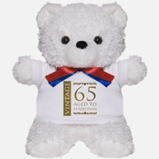 Fancy Vintage 65th Birthday Teddy Bear