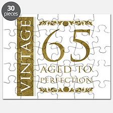 Fancy Vintage 65th Birthday Puzzle