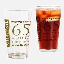 Fancy Vintage 65th Birthday Drinking Glass