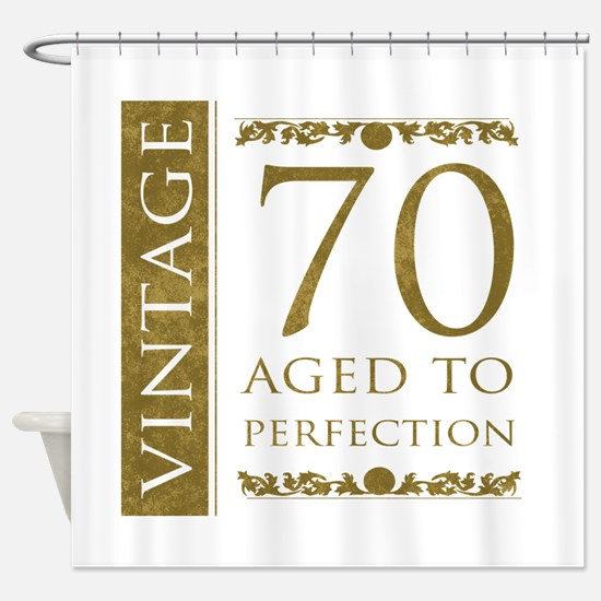 Fancy Vintage 70th Birthday Shower Curtain