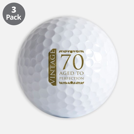 Fancy Vintage 70th Birthday Golf Ball