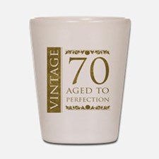 Fancy Vintage 70th Birthday Shot Glass