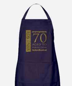 Fancy Vintage 70th Birthday Apron (dark)