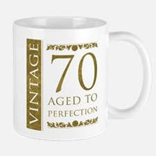 Fancy Vintage 70th Birthday Mug