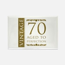 Fancy Vintage 70th Birthday Rectangle Magnet