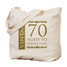 Fancy Vintage 70th Birthday Tote Bag