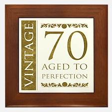 Fancy Vintage 70th Birthday Framed Tile