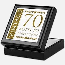 Fancy Vintage 70th Birthday Keepsake Box