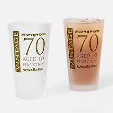 Fancy Vintage 70th Birthday Drinking Glass