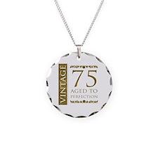 Fancy Vintage 75th Birthday Necklace