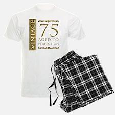 Fancy Vintage 75th Birthday Pajamas