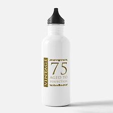 Fancy Vintage 75th Birthday Water Bottle