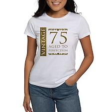 Fancy Vintage 75th Birthday Tee