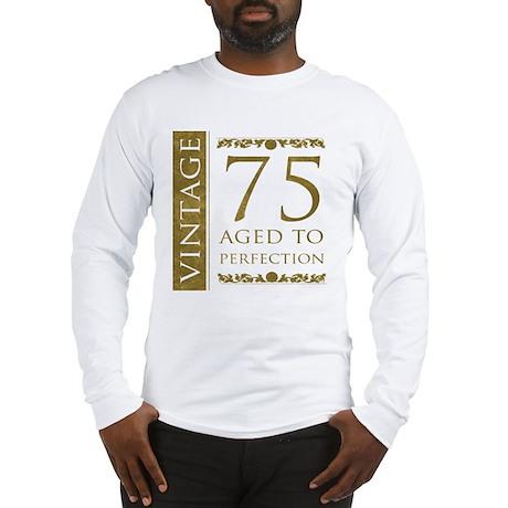 Fancy Vintage 75th Birthday Long Sleeve T-Shirt