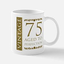 Fancy Vintage 75th Birthday Mug