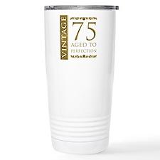 Fancy Vintage 75th Birthday Ceramic Travel Mug