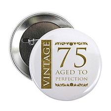 "Fancy Vintage 75th Birthday 2.25"" Button"