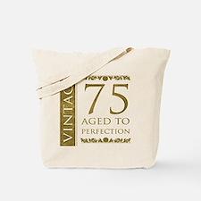 Fancy Vintage 75th Birthday Tote Bag