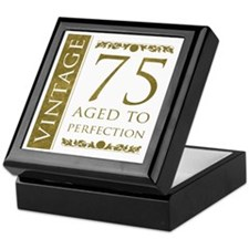 Fancy Vintage 75th Birthday Keepsake Box