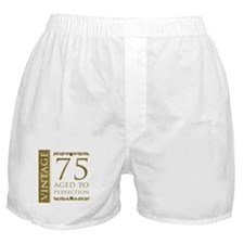 Fancy Vintage 75th Birthday Boxer Shorts