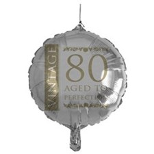 Fancy Vintage 80th Birthday Balloon