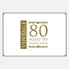 Fancy Vintage 80th Birthday Banner