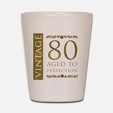 Fancy Vintage 80th Birthday Shot Glass
