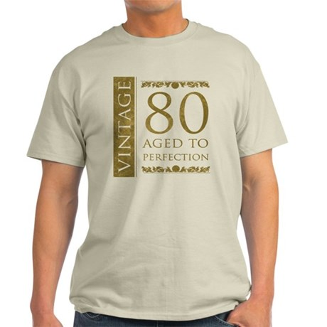 Fancy Vintage 80th Birthday Light T-Shirt