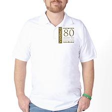 Fancy Vintage 80th Birthday T-Shirt