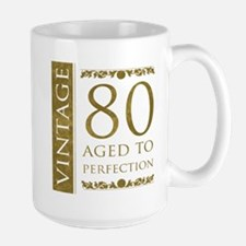 Fancy Vintage 80th Birthday Mug