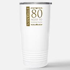 Fancy Vintage 80th Birthday Travel Mug
