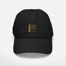 Fancy Vintage 80th Birthday Baseball Hat