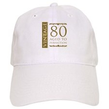 Fancy Vintage 80th Birthday Baseball Cap