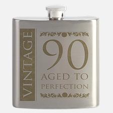 Fancy Vintage 90th Birthday Flask