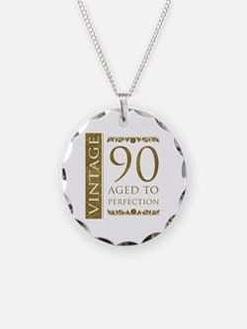 Fancy Vintage 90th Birthday Necklace