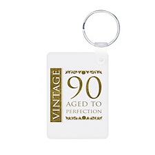 Fancy Vintage 90th Birthday Keychains