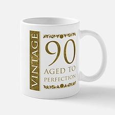Fancy Vintage 90th Birthday Mug