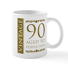 Fancy Vintage 90th Birthday Small Mug