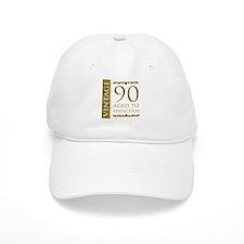 Fancy Vintage 90th Birthday Baseball Cap