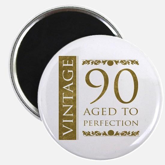 Fancy Vintage 90th Birthday Magnet