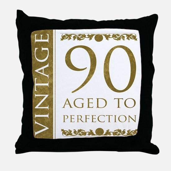 Fancy Vintage 90th Birthday Throw Pillow