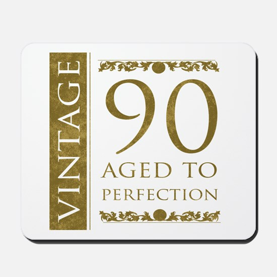 Fancy Vintage 90th Birthday Mousepad