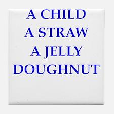 jelly doughnut Tile Coaster