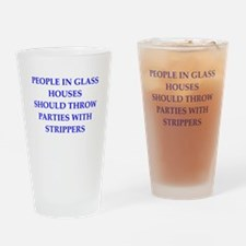 glass houses Drinking Glass