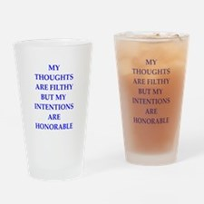 thoughts Drinking Glass
