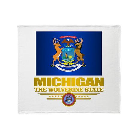 Michigan Pride Throw Blanket