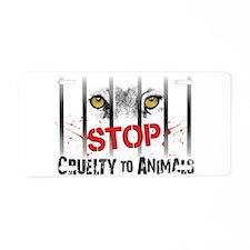 StopCrueltytoAnimals Aluminum License Plate