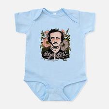 Edgar Allan Poe with Faded Roses Infant Bodysuit