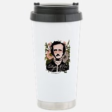 Edgar Allan Poe with Faded Roses Travel Mug