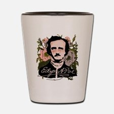 Edgar Allan Poe with Faded Roses Shot Glass